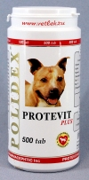 Полидекс Протевит плюс (Polidex Protevit plus), банка 500 таб.