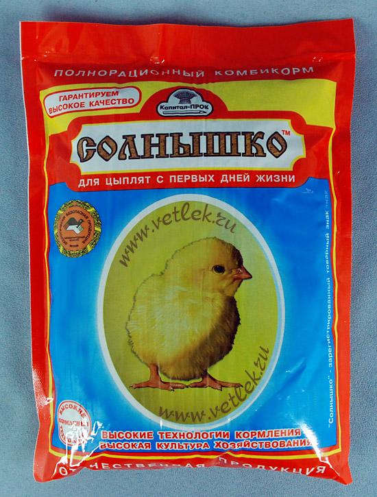 Корм для месячных цыплят