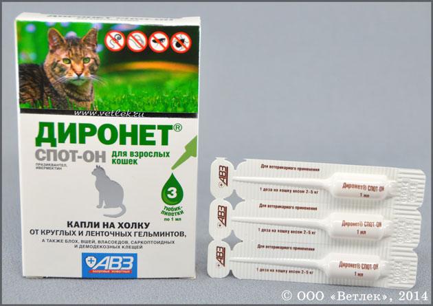 диронет спот-он для кошек цена в москве