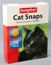 Беафар Мультивитамины для кошек (Beaphar Cat Snaps), уп. 75 таб.