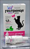 Гестренол капли для кошек с кошачьей мятой, фл. 1,5 мл