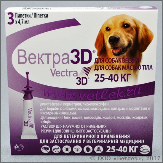 вектра 3 д для собак инструкция
